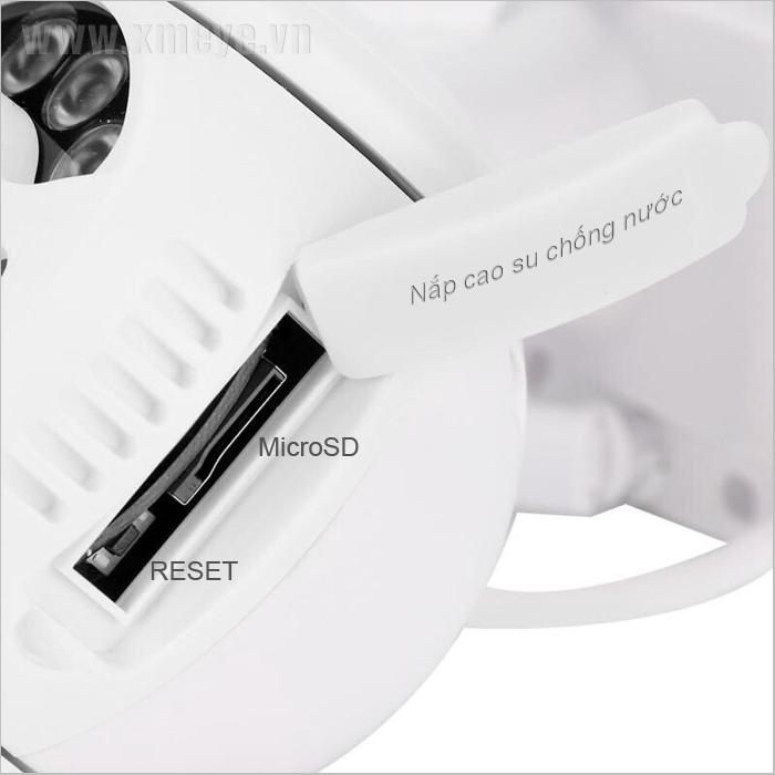 Vị trí nút reset camera wifi ngoài trời nằm ở đâu