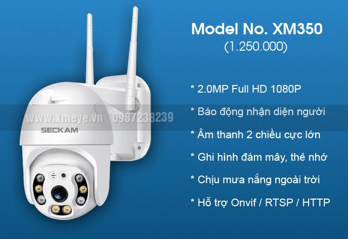 Camera wifi XMeye ngoài trời 2.0MP full color có màu ban đêm