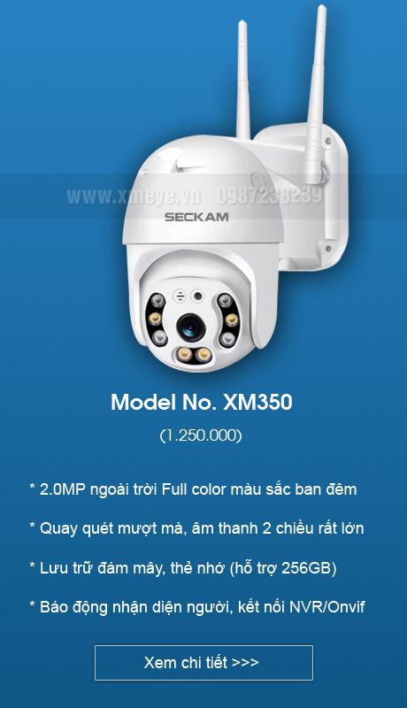 Camera wifi ngoài trời XMeye iCsee có màu ban đêm,quay quét 360 độ