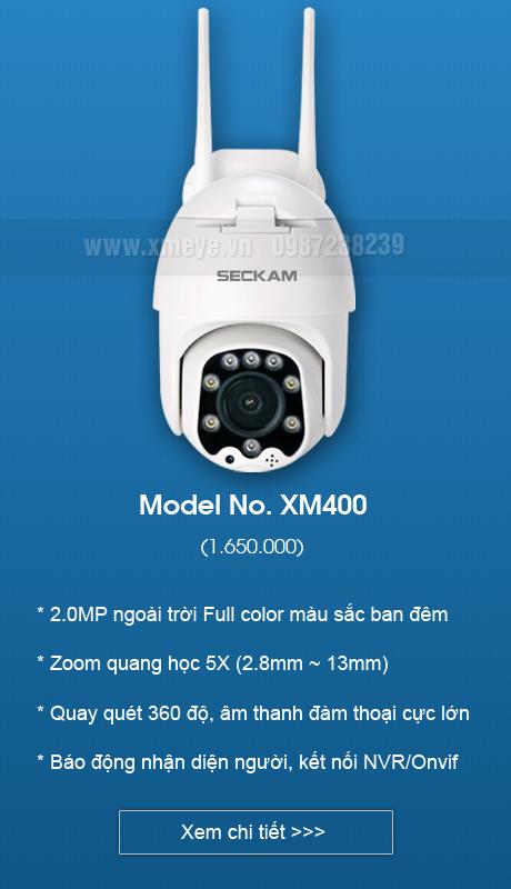 Camera xmeye wifi zoom quang 5x ngoài trời có màu ban đêm
